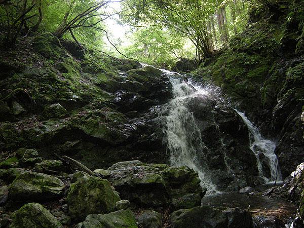 100919シダクラ沢・6m2段の滝