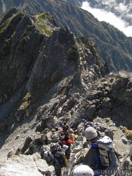 110924剱岳カニの横ばいの渋滞