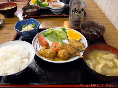 110924剣御前小舎の食事