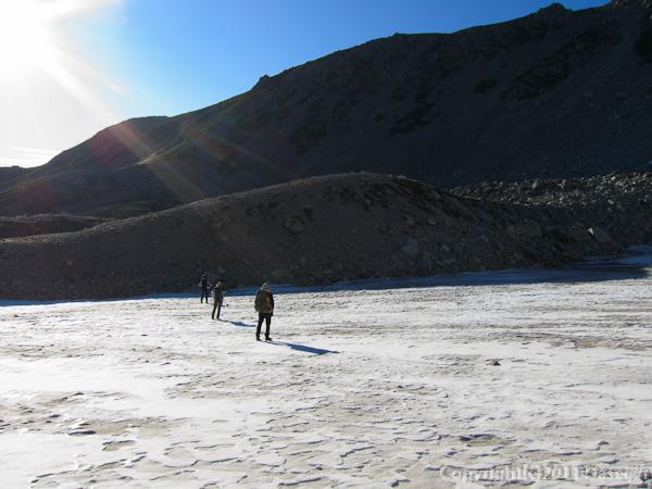 110925内蔵助カールの雪渓