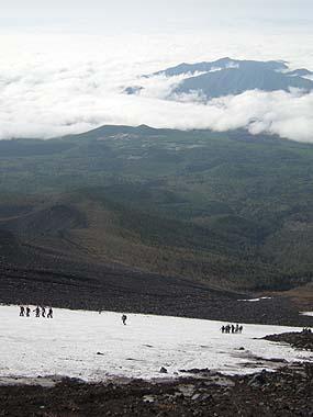 090523富士山6.5合目雪渓