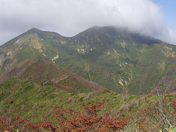 061015白毛門から笠ヶ岳、朝日岳