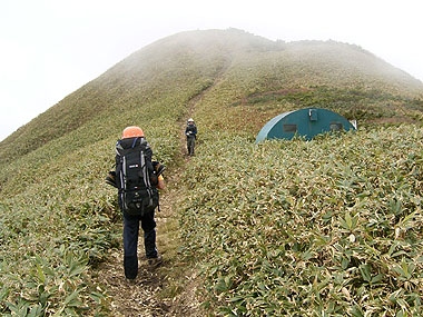 061015笠ヶ岳の小屋