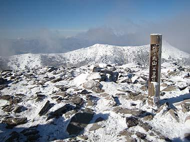 080127湯の丸山山頂