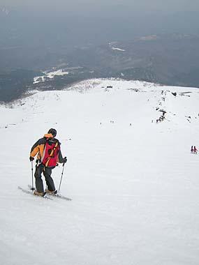 080413御嶽山滑る