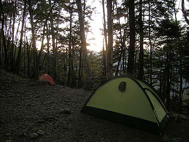 090920雲取山荘での夕暮れ
