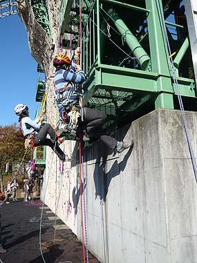 091115ロープの登り返し