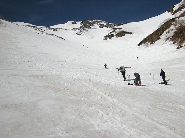 100516針ノ木雪渓からマヤクボ沢