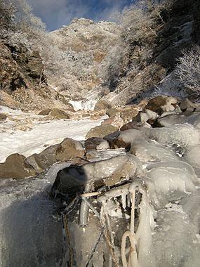 101218ジョウゴ沢最初の滝終了点