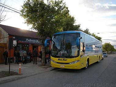 110105プエルトナタレス・プンタナアレナス行きのバス