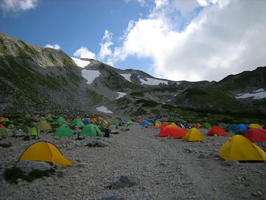 110814剣岳キャンプ場