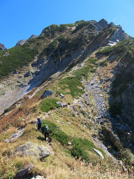 110924早月尾根2614mから剱岳