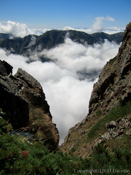 110924早月尾根から大日岳