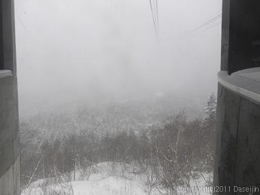 111125立山スキー・黒部平は何も見えない