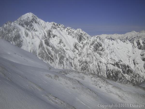 111126立山スキー・一ノ越から剱岳