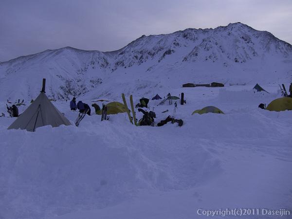 111127立山スキー・夜明け