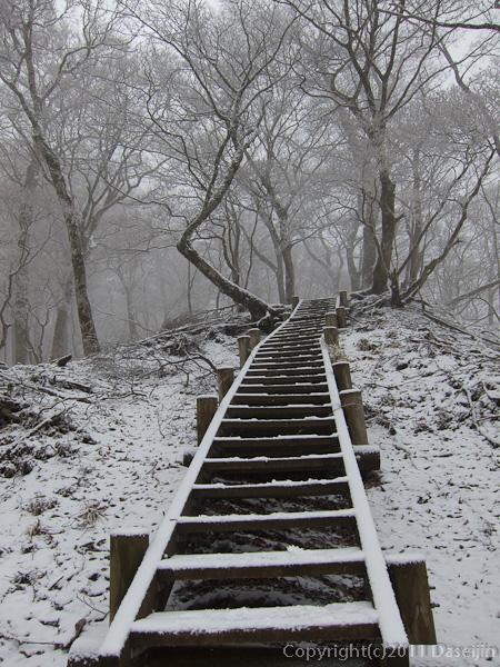 120226石棚山付近の階段