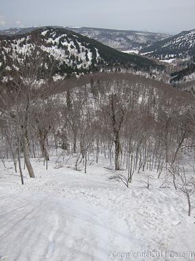 120429平ヶ岳・ススヶ峰南東尾根の快適な斜面