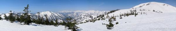 120429平ヶ岳・平ヶ岳をのぞむパノラマ