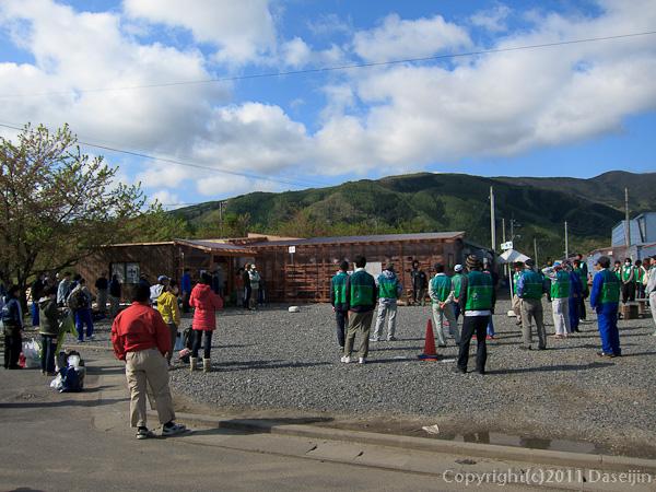 120513ボランティア・浄化センターの朝