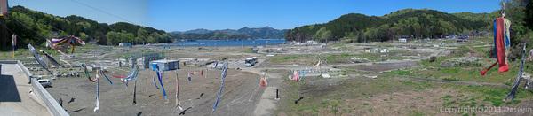 120513ボランティア・旧箱崎小学校の屋上から
