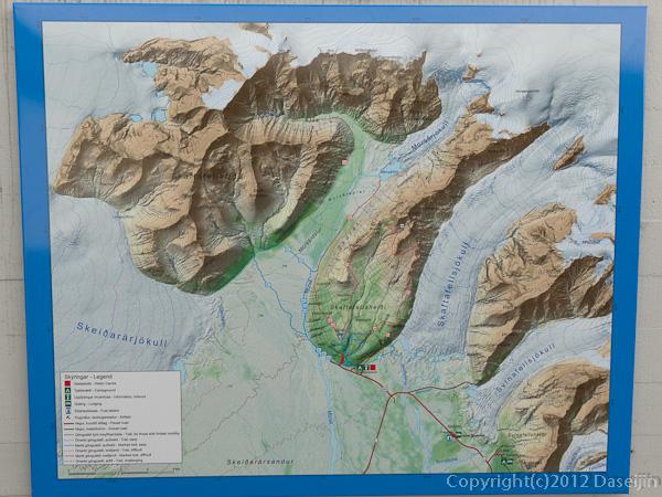 120806アイスランド、グリーンランドの旅・スカフタフェットルの地図1