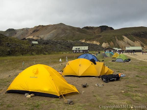 120808アイスランド、グリーンランドの旅・ランドマンナロイガルのキャンプ場