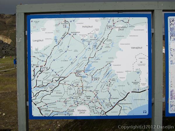 120808アイスランド、グリーンランドの旅・ランドマンナロイガルにあった地図