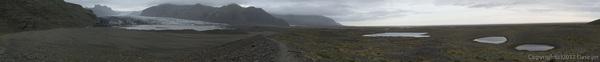 120806アイスランド、グリーンランドの旅・スカフタフェットル氷河のモレーンから