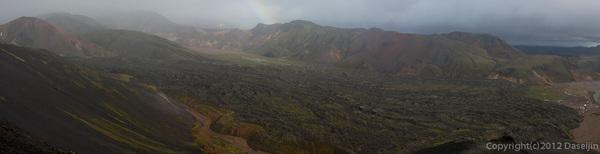 120809アイスランド、グリーンランドの旅・振り返ると虹