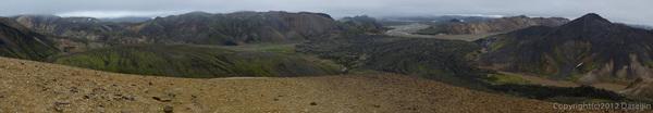 120809アイスランド、グリーンランドの旅・Brennisteinsalda山頂のパノラマ